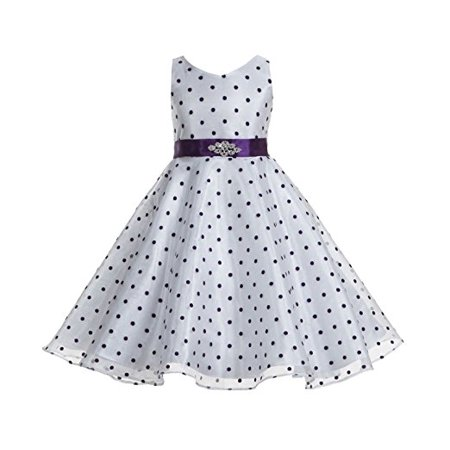 6f27c06ded Ekidsbridal Polka Dot V-Neck Rhinestone Organza Flower Girl Dress Pageant  Dresses Princess Dresses Ballroom Gown Special Occasion Dresses Toddler Girl  ...