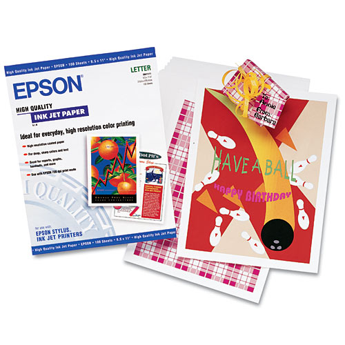 "Epson 8.5""x11"" High Quality Inkjet Paper"