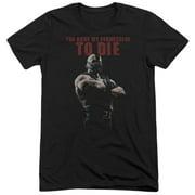 Dark Knight Rises Permission To Die Mens Tri-Blend Short Sleeve Shirt