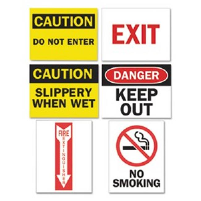 Tarifold P1949TA Magneto Safety Sign Inserts, Six Assorted Messages, 8. 75 x 11. 25