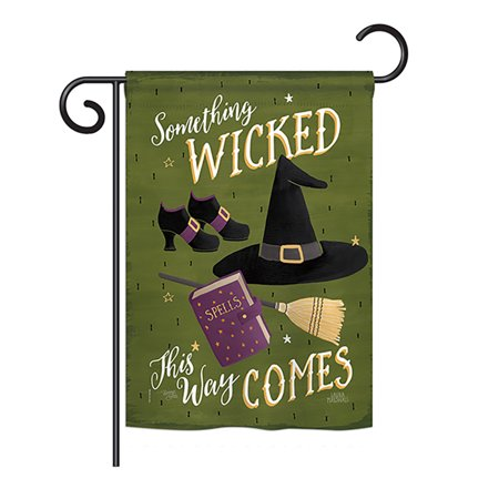 Breeze Decor - Something Wicked Fall - Seasonal Halloween Impressions Decorative Vertical Garden Flag 13