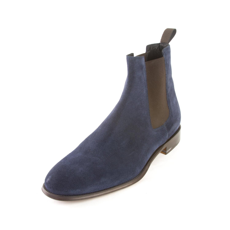 Suede Chelsea Boots, Blue, Sz