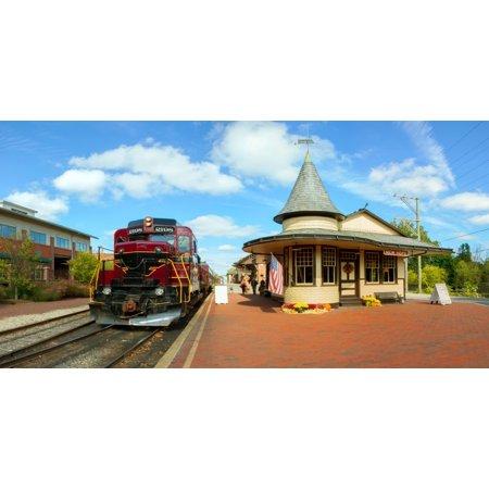 Train at railway station New Hope Bucks County Pennsylvania USA Poster Print by Panoramic