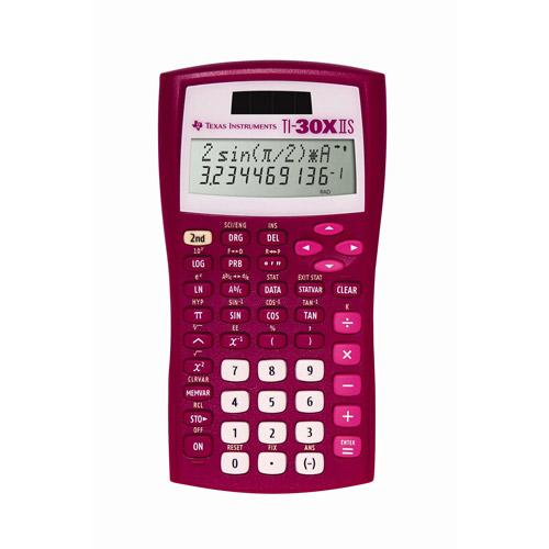 Texas Instruments TI-30X IIS Calculator, Raspberry