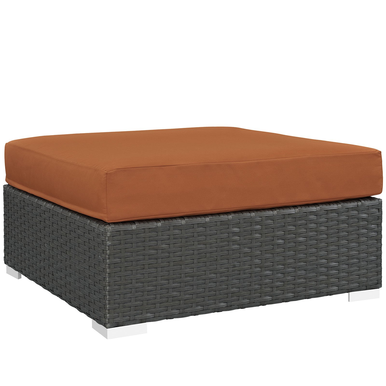 Modway Sojourn Outdoor Patio Sunbrella Square Ottoman, Multiple Colors