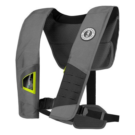 Mustang Survival 18511382 Mustang Dlx 38 Deluxe Manual Inflatable Pfd - Gray/fluorescent Yellow