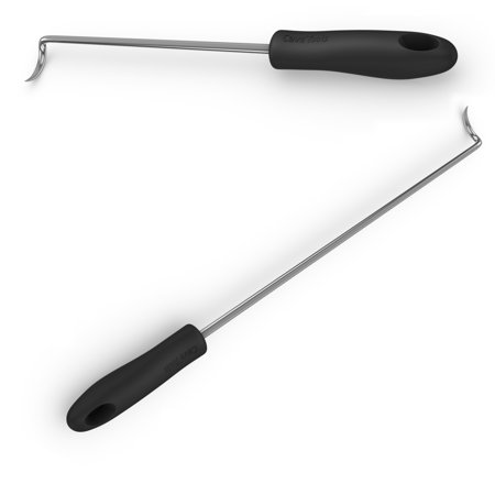 Pigtail Food Flipper & Turner Hooks - Large + Small Barbecue & Cooking Turners For Turning Bacon Steak Meat Vegetables Sausage Fish and (Bbq Hook)