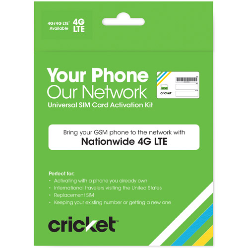 Cricket Wireless BYOD Universal SIM Card Activation Kit