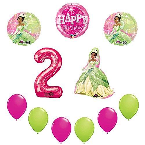 Disney Princess Tiana 2nd Birthday Party Balloon sullies decorations
