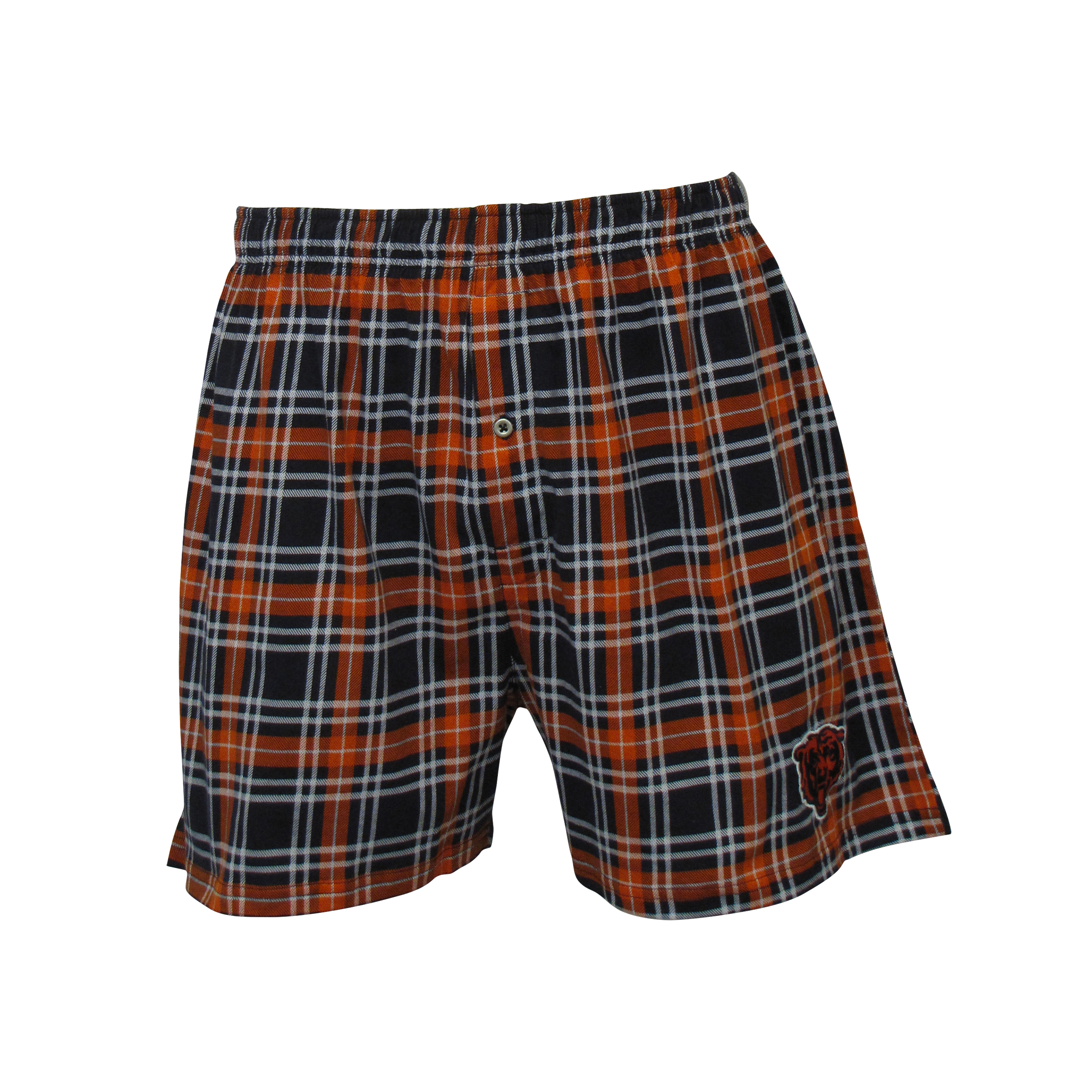 Chicago Bears Men's Countdown Plaid Knit Boxers