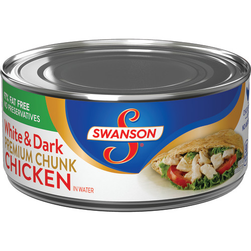 (3 Pack) Swanson Premium White & Dark Chunk Chicken in Water, 9.75 oz.