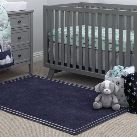 Little Love by NoJo Kids/Nursery Plush Navy Rug, 5'9
