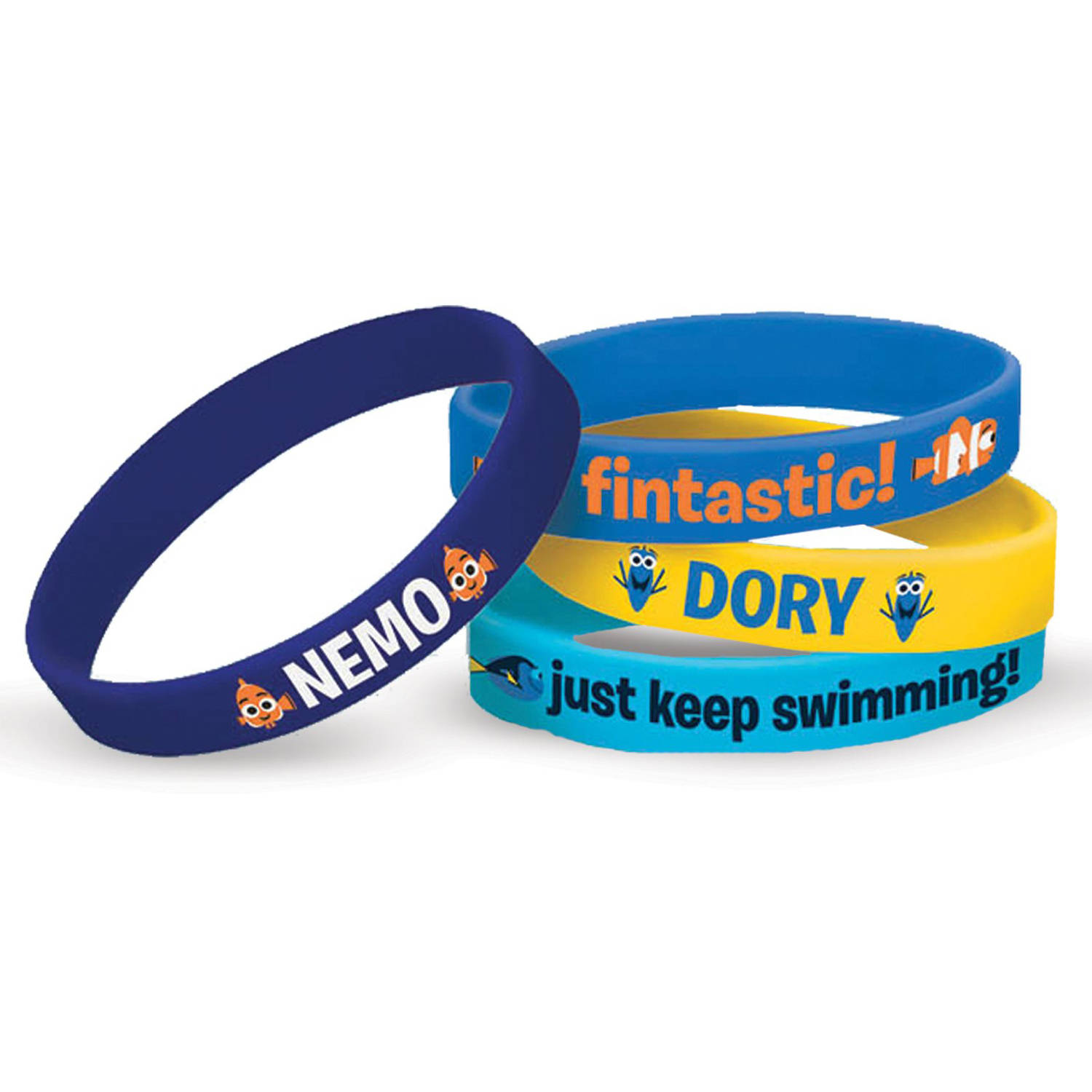 Disney Finding Dory Rubber Bracelets, 4ct