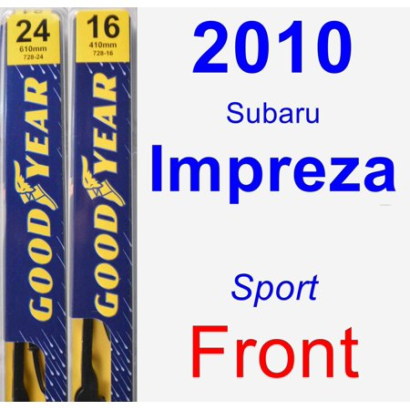 2010 Subaru Impreza (Sport) Wiper Blade Set/Kit (Front) (2 Blades) - Premium
