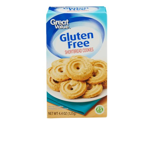 Great Value Gluten Free Shortbread Cookies, 4.4 oz by Wal-Mart Stores, Inc.