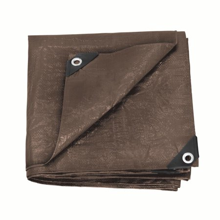 - Stansport Rip Stop Tarp - 6 FT x 8 FT - Brown- Standard Duty