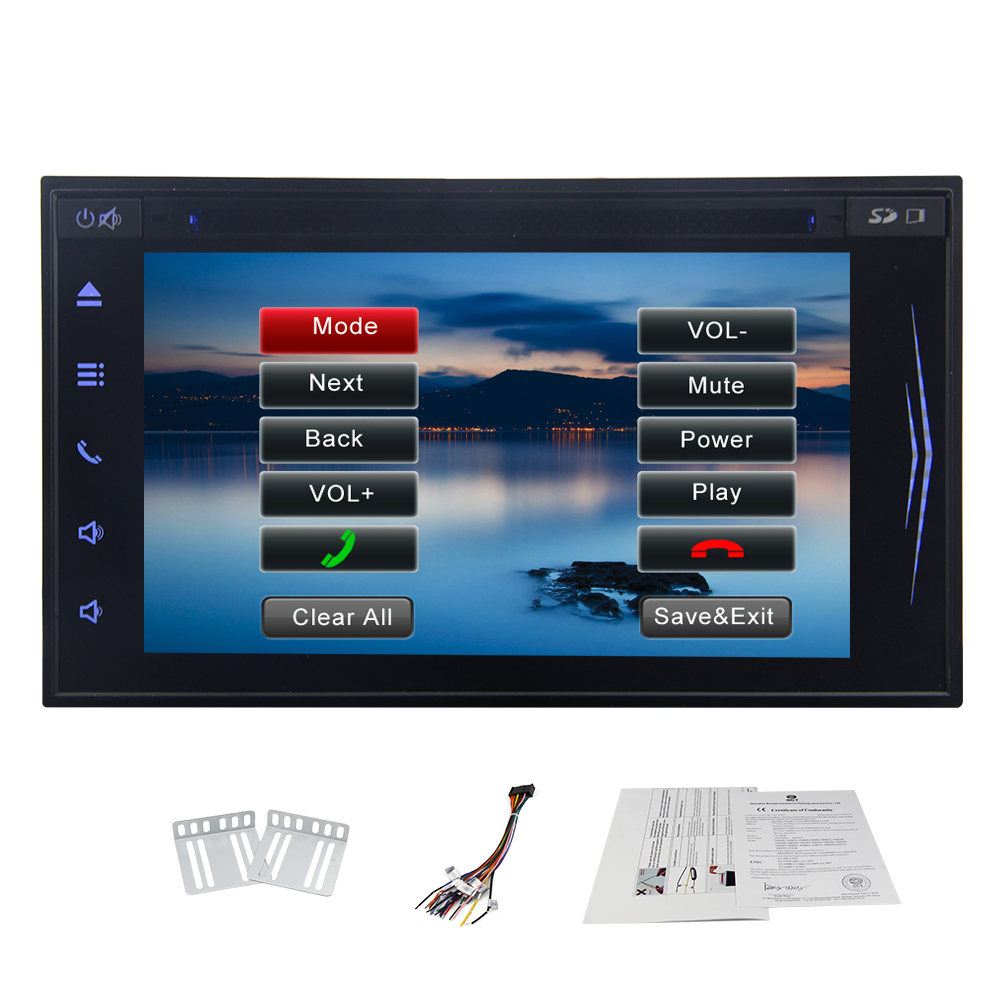 Latest Car DVD Player With 2 Din Bluetooth Car Radio Tabl...