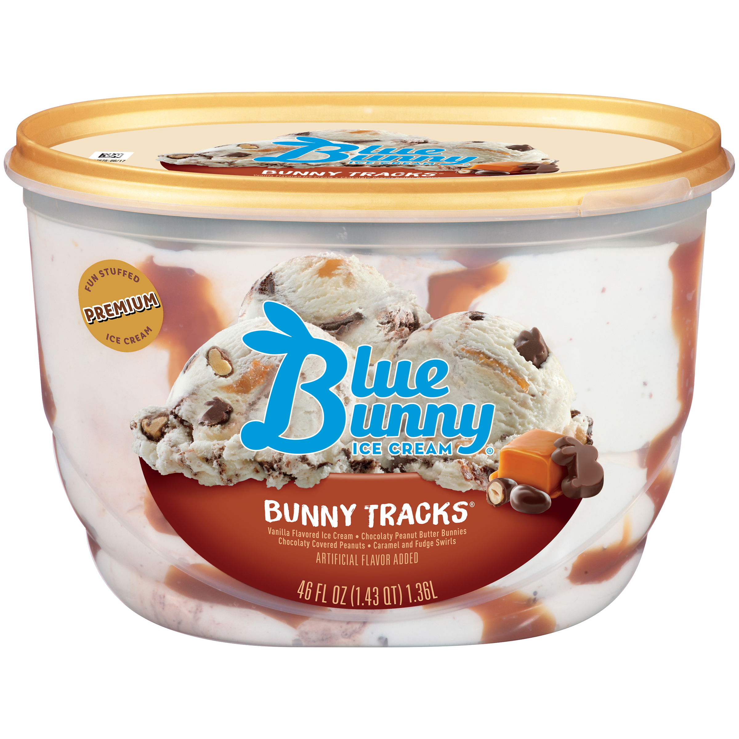 Blue Bunny Bunny Tracks® Ice Cream, 46 fl oz