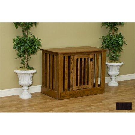 Pinnacle Woodcraft 81ec2544mpesp Entertainment Center Dog Crate Maple – Espresso