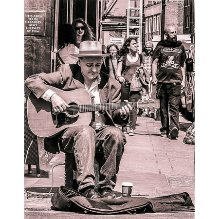 - Canvas Print Performer Adult Music Musician Street Player Stretched Canvas 10 x 14