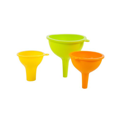CORE HOME 10639-TV 3Piece Silicone Funnel Assorted