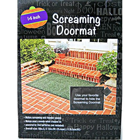Screaming Halloween Doormat 14inch - Screaming Doormat