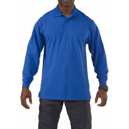 5 11 Tactical Long Sleeve Professional Polo Shirt  Academy Blue