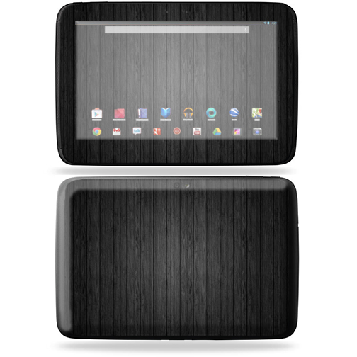 "Mightyskins Protective Skin Decal Cover for Samsung Google Nexus 10 Tablet with 10"" screen wrap sticker skins Black Wood"
