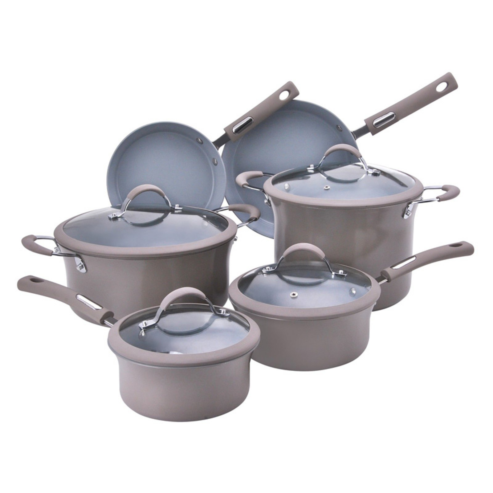 Hamilton Beach 10pc Aluminum Cookware Set, Champagne by Supplier Generic