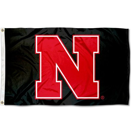 - Nebraska Cornhuskers Black N 3' x 5' Pole Flag