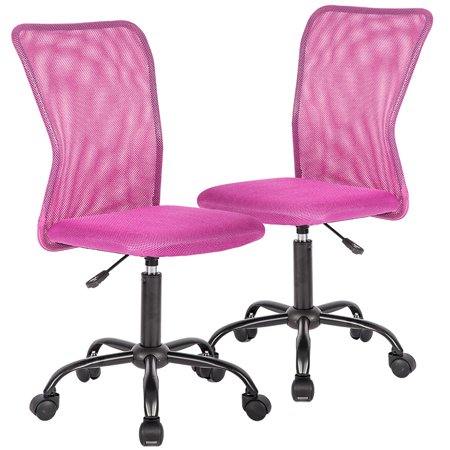 Office Chair Desk Computer Chairs Mid-Back Task Swivel Seat Ergonomic Chair - Hot Pink Chair