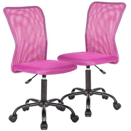 Set Of 2 Mesh Office Chair Computer Mid-Back Task Swivel Seat Ergonomic Chair