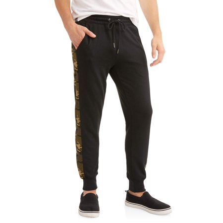 (Men's Terry Jogger with Mesh Side Stripe)