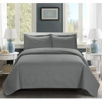 3 Piece Oversize Bedspread-MIKANOS Paisley Ultrasonic Embossed Bedspread Set with Two Shams - Oversized Coverlet - Hypoallergenic,Fade Resistant,Wrinkle Resistant,Soft
