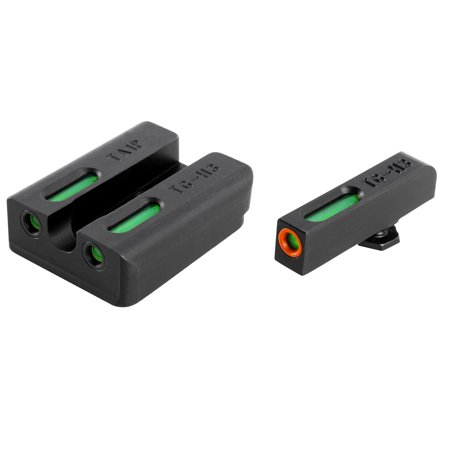 TRUGLO TFX PRO TAURUS MIL/SLIM GREEN TRITIUM/FIBER OPTIC W/ORANGE OUTLINE FRONT GREEN REAR BLACK ()