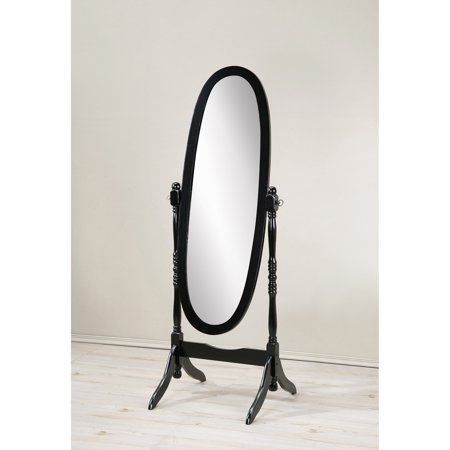 GTU Furniture Swivel Adjustable Full-Length Oval Wood Cheval Floor Mirror Adjustable Louver Acrylic Mirror