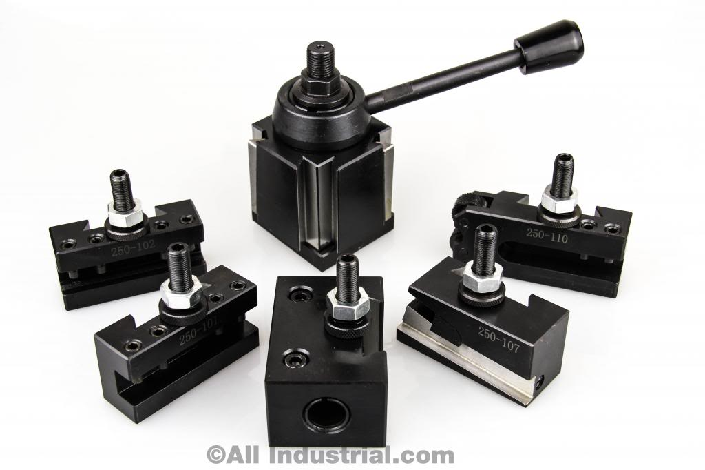 AXA Wedge Tool Post Set CNC High Precision Quick Change Lathe Holders 100 Series by All Industrial