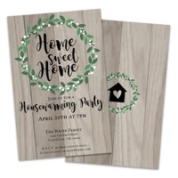 Personalized Wood Housewarming Party Invitation