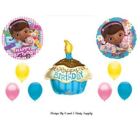 Doc McStuffins CUPCAKE Happy Birthday PARTY balloons Decorations Supplies by Anagram (Doc Mcstuffin Party Supplies)