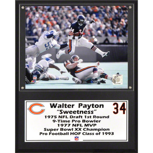 NFL - Walter Payton Sublimated 12x15 Player Plaque