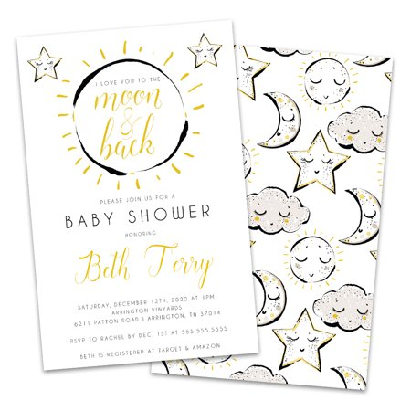 Baby Shower Moon And Stars Theme (Personalized Moon and Stars Baby Shower)