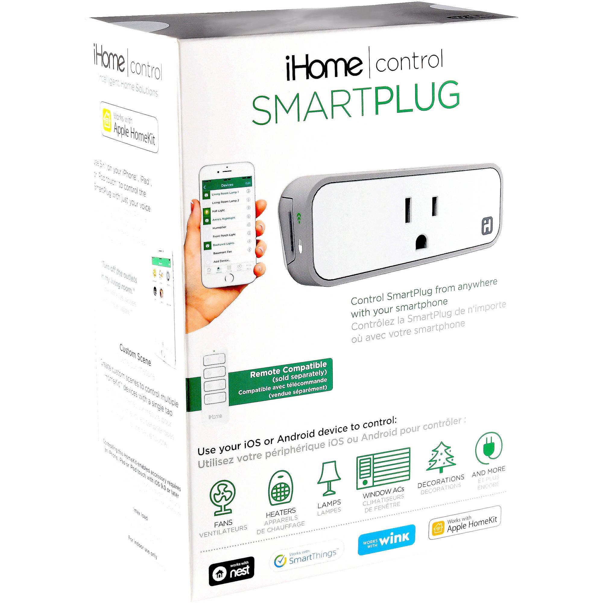 iHome Smart Plug, 1-Pack - Walmart com