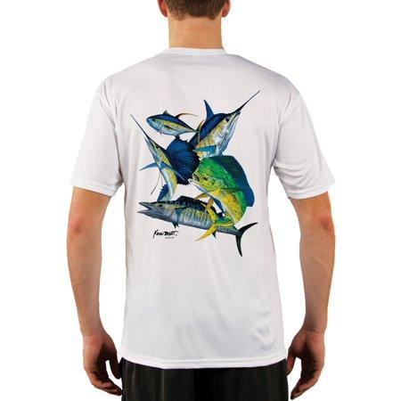 Offshore Montage Men's UPF 50+ UV/Sun Protection Short Sleeve T-Shirt Offshore Boat T-shirt