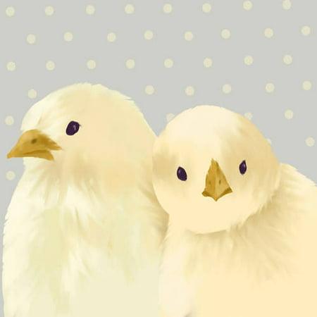Oopsy Daisy\'s Mike & Mark Gray with Cream Canvas Wall Art, 10x10 ...