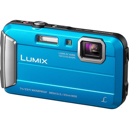 Panasonic Blue Lumix DMC-TS25A Digital Camera with 16.1 Megapixels and 4x Optical Zoom