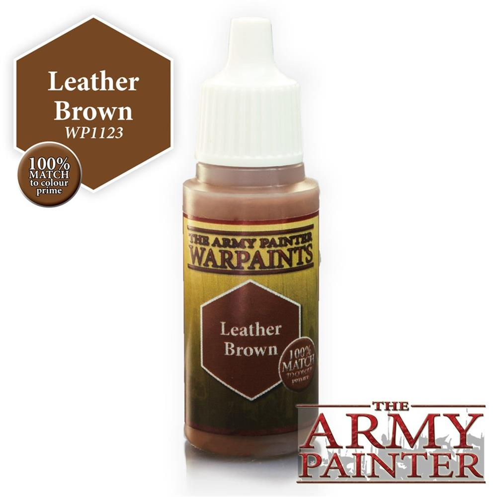 Warpaints: Leather Brown (18ml./0.6Oz.) Army Painter WP1123 Warpaints - Brown, 18 ml The APS AMYWP1123
