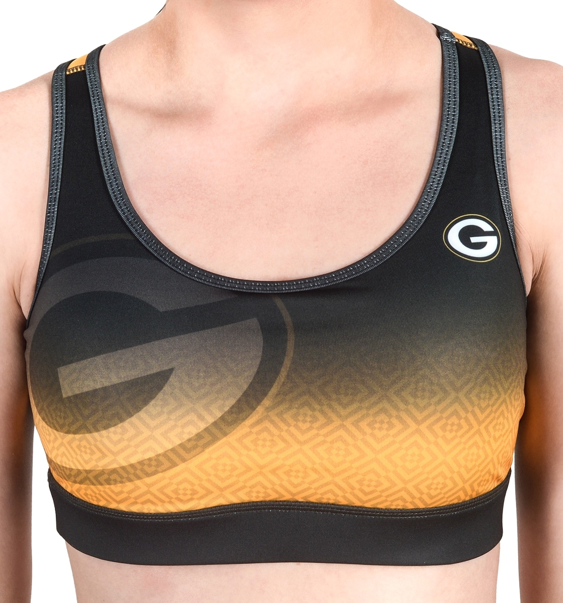 Green Bay Packers Women's NFL Gradient Sports Bra