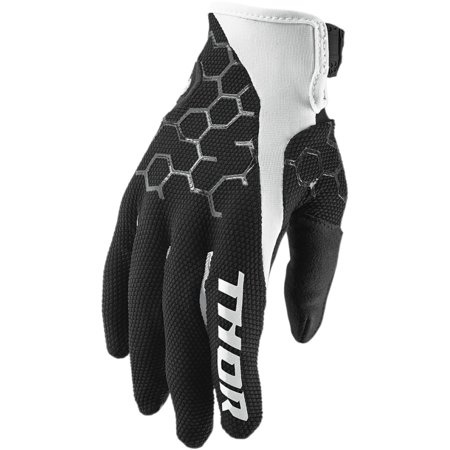 Thor Draft Mens MX Offroad Gloves Indi Black/White