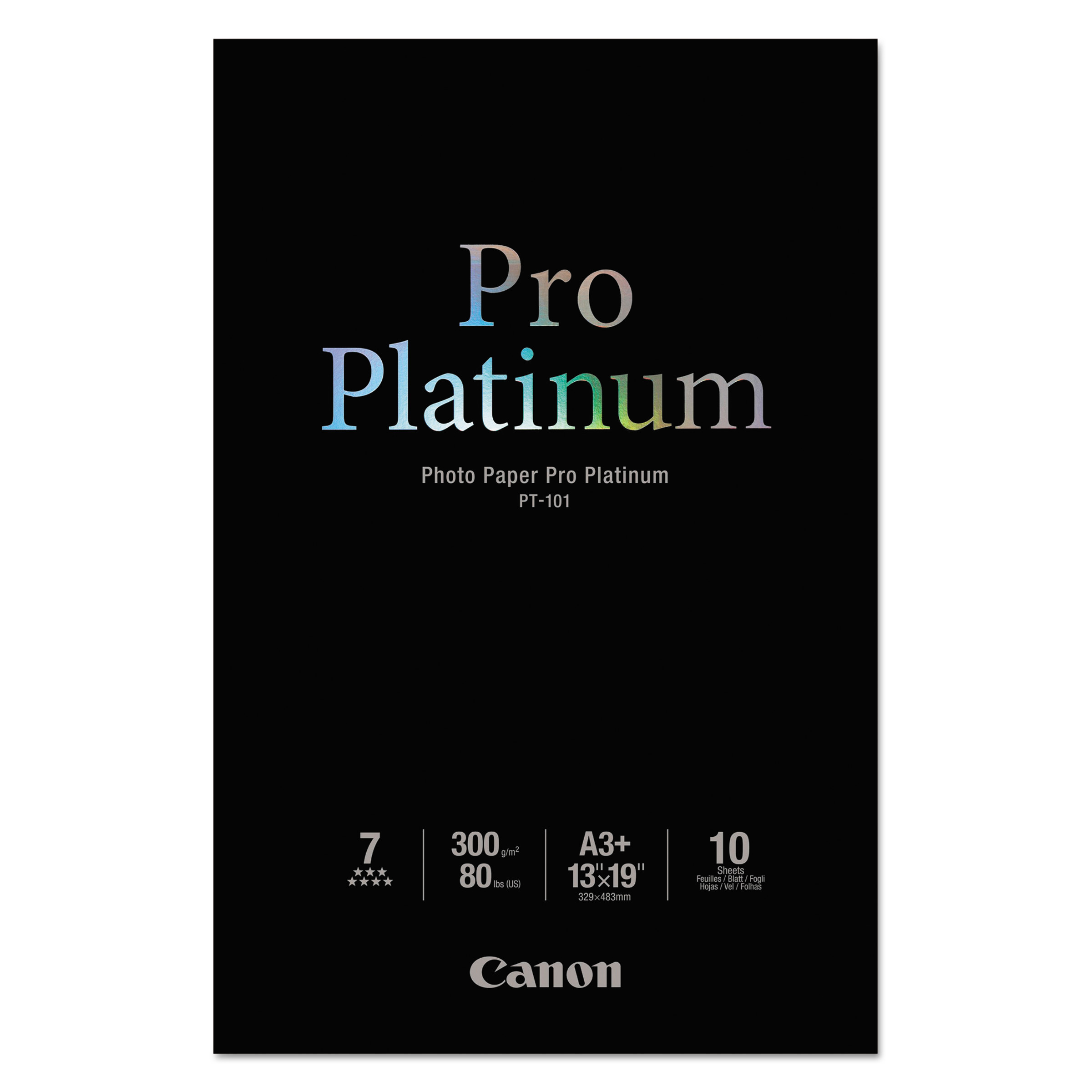 "Canon PT-101 Pro Platinum Glossy Photo 13"" x 19"" 10-count Paper white 2768B018"