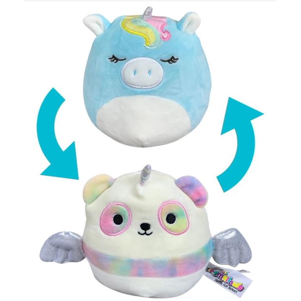Squishmallow 5 Inch Flip A Mallow Plush Panda Pegacorn Light Aqua Unicorn Walmart Com Walmart Com